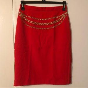 ESCADA by Margaretha Ley Pure Wool Orange Skirt